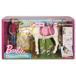 MATTEL - Barbie - Cavallo dei Sogni, cammina, risponde alle azioni e al tocco