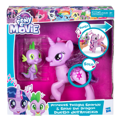 HASBRO - My Little Pony - Twilight Sparkle e Spike Cantanti (My Little Pony: The Movie)