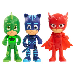 GIOCHI PREZIOSI - Pj Masks Personaggio Luminoso Con Bracciale Per Bambino (Personaggi assortiti: Geko, Gufetta, Gattoboy)