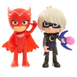 GIOCHI PREZIOSI - Pj Masks Coppia Personaggi  (Personaggi assortiti: Geko, Gufetta, Gattoboy)