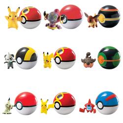 ROCCO GIOCATTOLI - Pokemon Poke Ball con Personaggio (Personaggi assortiti)