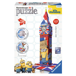 RAVENSBURGER - 3D Building Big Ben Minions