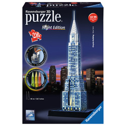 RAVENSBURGER - 3D Building Night Chrysler