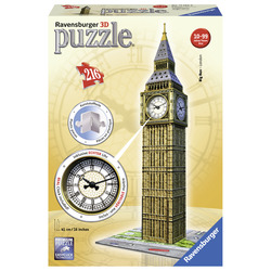RAVENSBURGER - 3D Building Big Ben Real Clock