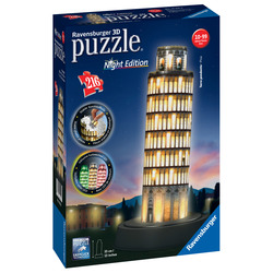 RAVENSBURGER - 3D Building Night Torre Pisa