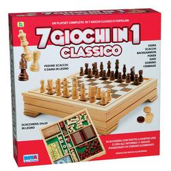 RSTOYS - Scacchiera 7 in 1 Scacchi/Dama