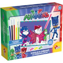 LISCIANIGIOCHI - PJ Masks Scuola di Disegno con Pennarelli Fluo