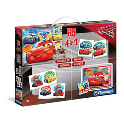 CLEMENTONI - Edukit 4 in 1 Cars 3