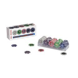 DAL NEGRO - 100 Poker Chips  da 0,50 a 10