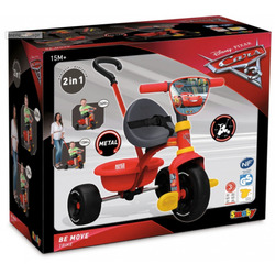 SMOBY - Triciclo Be Move Disney Cars 3