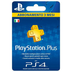 SONY - Sony Playstation Plus Card Hang 90D, PlayStation 4, 3 mese(i), Blu, Giallo
