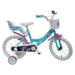 "DENVER - Denver Bike Bici Bambino ""Frozen"", 16"", Verticale, Città, 40,6 cm (16""), Acciaio, Blu, Bianco, 40,6 cm (16"")"