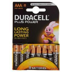 DURACELL - Duracell Plus Power AAA LR03 / MN2400 1.5V Alkaline 8 pz
