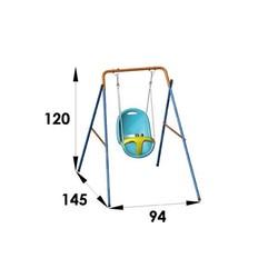 Altalena modello coccinella con seggiolino di sicurezza