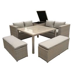 GARDENSTAR - SET WICKER 6 PEZZI