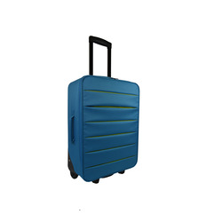 INTERNATIONAL - TROLLEY BICOLOR AZZURRO 49 CM