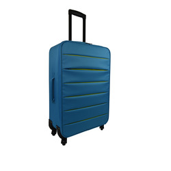 INTERNATIONAL - TROLLEY BICOLOR AZZURRO 64 CM