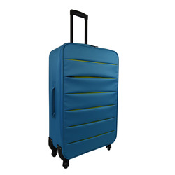 INTERNATIONAL - TROLLEY BICOLOR AZZURRO 74 CM