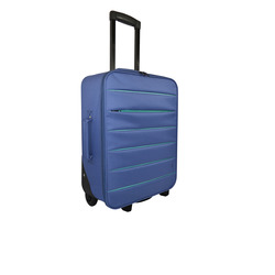 INTERNATIONAL - TROLLEY BICOLOR BLU SCURO 49 CM