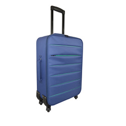 INTERNATIONAL - TROLLEY BICOLOR BLU SC.64CM