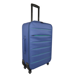 INTERNATIONAL - TROLLEY BICOLOR BLU SC.74CM