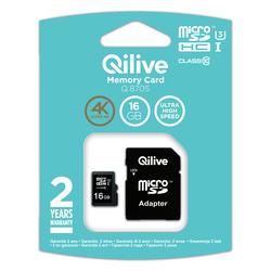 Qilive - Q.8705, 16 GB, MicroSDHC, Classe 10, UHS-I, Nero