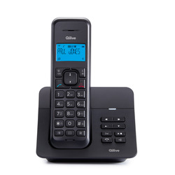 Qilive - 871464, Telefono DECT, Cornetta wireless, 50 voci, Nero