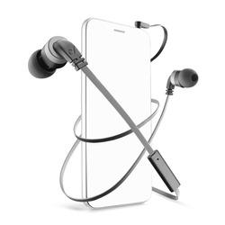 Cellularline - Mosquito - Universale Auricolari in-ear leggeri dal suono pulito Nero, Cablato, Auricolare, Stereofonico, Intraurale, Nero