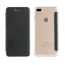 """Qilive - Q.9914, Custodia a libro, Apple, iPhone 7 Plus, 14 cm (5.5""""), Nero"""