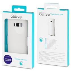 """Qilive - 180732, Cover, Samsung, Galaxy S8, 14,7 cm (5.8""""), Trasparente"""