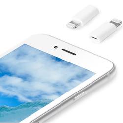 Qilive - MA-2327, Lightning, Micro USB, Maschio/Femmina, Bianco