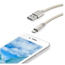 Qilive - Cavo caricatore in tessuto 1,2mt - USB 2.0/Lightning