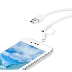 Qilive - Cavo caricatore 1,2mt - USB 2.0/Micro USB con adattatore Lightning