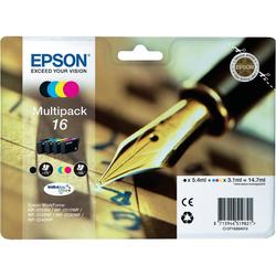 Epson - Multipack 16 a 4 colori, Nero, Ciano, Magenta, Giallo, Epson WorkForce WF-2010W Epson WorkForce WF-2510WF Epson WorkForce WF-2520NF Epson WorkForce..., Ad inchiostro, 4 pezzo(i), Blister, 192 x 45 x 141,75 mm