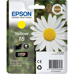 Epson - Cartuccia Giallo, Giallo, Epson - XP-30 / XP-102 / XP-202 / XP-205 / XP-302 / XP-305 / XP-402 / XP-405, Resa standard, 1 pezzo(i), 112 x 141,75 x 24 mm
