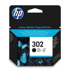 HP - Cartuccia originale inchiostro nero 302, Nero, Deskjet 1110, Deskjet 2130 AiO, Deskjet 2132 AiO, Deskjet 2134 AiO, Deskjet 3630 AiO, Officejet..., Ad inchiostro, Resa standard, 3,5 ml, 190 pagine