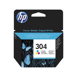 HP - Cartuccia inchiostro originale tricromia 304, Ciano, Magenta, Giallo, HP, DeskJet 3720, DeskJet 3730, N9K05AE, Getto termico d'inchiostro, Resa standard