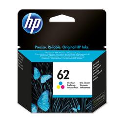 HP - HP Cartuccia originale inchiostro tricromia 62, HP, Ciano, Magenta, Giallo, ENVY 5640 e-AiO, ENVY 7640 e-AiO, Officejet 5740 e-AiO, Resa standard, 4,5 ml, 165 pagine