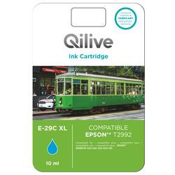 Qilive - E-29C XL, Ciano, Epson, Expression Home XP-235, 332, 335, 432, 435, T2992, Ad inchiostro, Resa elevata (XL)