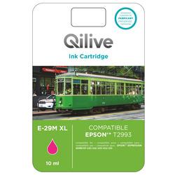 Qilive - E-29M XL, Magenta, Epson, Expression Home XP-235, 332, 335, 432, 435, T2993, Ad inchiostro, Resa elevata (XL)