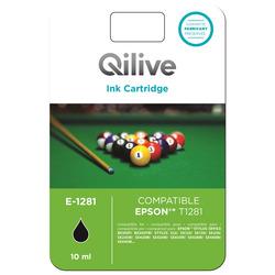 Qilive - E-1281, Nero, Epson, Stylus Office BX305F, BX305FW, STYLUS S22, SX125, SX130, SX230, SX235W, SX420W, SX425W, SX435W,..., T1281, Ad inchiostro, Resa standard