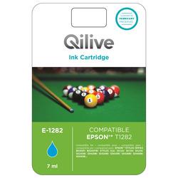 Qilive - E-1282, Ciano, Epson, Stylus Office BX305F, BX305FW, STYLUS S22, SX125, SX130, SX230, SX235W, SX420W, SX425W, SX435W,..., T1282, Ad inchiostro, Resa standard
