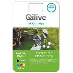 Qilive - Cartucce compatibili Epson - E-16 XL COLOR