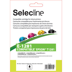 Selecline - E-1281, Nero, Epson, Epson Stylus S22, SX125, SX130, SX230, SX235W, SX420W, SX425W, SX430W, SX435W, SX438W, SX440W,..., T1281, Ad inchiostro, Resa standard