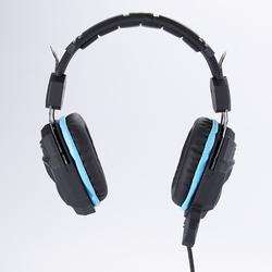 Qilive - Q.8152, Gioco per PC, Stereofonico, Padiglione auricolare, Nero, Blu, Manopola, Cablato