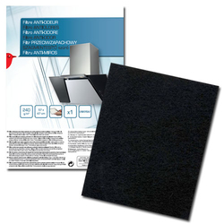 Auchan - 400087, Cooker hood filter, Nero, Carbonio, 240 g