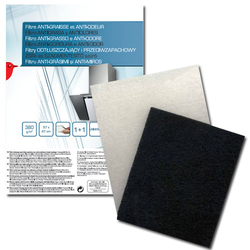 Auchan - 400088, Cooker hood filter, Nero, Bianco, Universale, 380 g/m², 570 mm, 470 mm