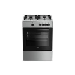 Beko - Beko FSG62000DX, Piano cottura, Acciaio inossidabile, Manopola, Frontale, Smaltato, Gas
