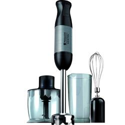 Hotpoint - HB 0603 DXB0, Frullatore ad immersione, 0,7 L, Nero, Acciaio inossidabile, 1 m, 2 anno/i, Acciaio inossidabile