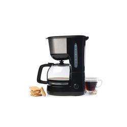 Qilive - Q.5895, Libera installazione, Macchina da caffè con filtro, 1,25 L, Caffè macinato, 1000 W, Nero, Acciaio inossidabile